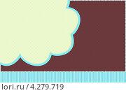 Шаблон с облаком. Стоковая иллюстрация, иллюстратор Ксения Александрова / Фотобанк Лори