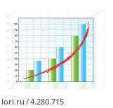 График роста. Стоковая иллюстрация, иллюстратор Артём Садовников / Фотобанк Лори