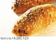 Купить «Хлеб посыпанный овсяной крупой», фото № 4285123, снято 26 марта 2019 г. (c) Food And Drink Photos / Фотобанк Лори