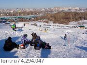 Горно-лыжный комплекс в центре Новосибирска (2013 год). Редакционное фото, фотограф Alexander Zholobov / Фотобанк Лори