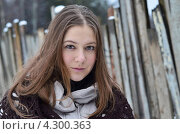 Девушка на морозе. Стоковое фото, фотограф Наталия Пухова / Фотобанк Лори