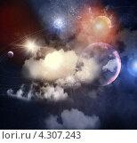 Купить «Космический пейзаж с Солнечной системой», иллюстрация № 4307243 (c) Sergey Nivens / Фотобанк Лори