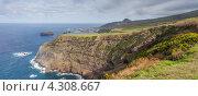 Вид на Атлантический океан с острова Сан-Мигель, Азорские острова (2012 год). Стоковое фото, фотограф Роман Сулла / Фотобанк Лори