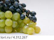 Грозди красного и зелёного винограда. Стоковое фото, фотограф Артем Свистун / Фотобанк Лори