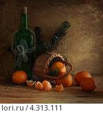 Натюрморт с мандаринами. Стоковое фото, фотограф Елена Рубинская / Фотобанк Лори