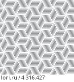 Купить «Бесшовный фон с геометрическим орнаментом и градиентной заливкой», иллюстрация № 4316427 (c) pzAxe / Фотобанк Лори