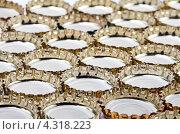 Купить «Металлические крышки от пивных бутылок», фото № 4318223, снято 15 января 2012 г. (c) Куликов Константин / Фотобанк Лори