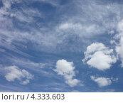 Облака в небе. Стоковое фото, фотограф Вадим Янгунаев / Фотобанк Лори