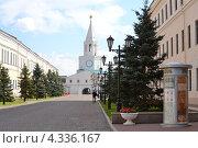 Спасская башня Казанского кремля (2012 год). Редакционное фото, фотограф Виктор Бартенев / Фотобанк Лори