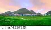 Вид на город Longyearbyen, Норвегия, Шпицберген. Стоковое фото, фотограф Наталия Давидович / Фотобанк Лори