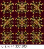 Купить «Цветной бесшовный орнамент», иллюстрация № 4337303 (c) Денис Авданин / Фотобанк Лори