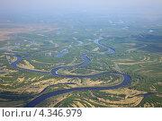 Купить «Пойма лесной реки летом», фото № 4346979, снято 13 июня 2012 г. (c) Владимир Мельников / Фотобанк Лори