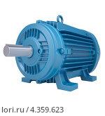 Купить «Голубой электромотор», иллюстрация № 4359623 (c) Кирилл Черезов / Фотобанк Лори