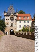 Купить «Ворота замка Альбрехтсбург в Мейсене, Германия», фото № 4361467, снято 6 сентября 2010 г. (c) Солодовникова Елена / Фотобанк Лори