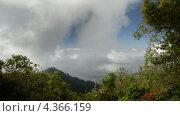 Пролетающие облака над горами в национальном парке Montecristo, Сальвадор (2013 год). Стоковое видео, видеограф Soft light / Фотобанк Лори