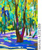 Купить «Живописный летний пейзаж», иллюстрация № 4372659 (c) Олеся Каракоця / Фотобанк Лори