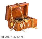 Шкатулка с ювелирными украшениями. Стоковое фото, фотограф Andrey Politov / Фотобанк Лори