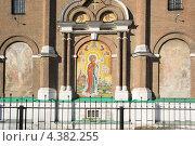 Фреска на стене храма. Стоковое фото, фотограф Татьяна Фролова / Фотобанк Лори