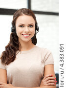 Купить «Привлекательная телефонная операционистка», фото № 4383091, снято 16 июля 2011 г. (c) Syda Productions / Фотобанк Лори