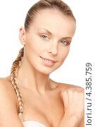 Купить «Привлекательная молодая женщина с волосами, убранными в косу», фото № 4385759, снято 8 мая 2010 г. (c) Syda Productions / Фотобанк Лори