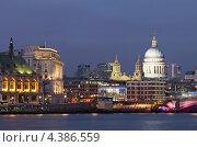 Купить «Вид на Темзу и собор Святого Павла вечером, Лондон», фото № 4386559, снято 2 марта 2013 г. (c) Антон Балаж / Фотобанк Лори