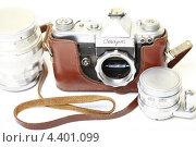 Купить «Старая пленочная фотокамера», эксклюзивное фото № 4401099, снято 14 марта 2013 г. (c) Яна Королёва / Фотобанк Лори