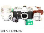 Купить «Старая пленочная фотокамера», эксклюзивное фото № 4401107, снято 14 марта 2013 г. (c) Яна Королёва / Фотобанк Лори