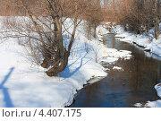Весенний ручей в лесу. Стоковое фото, фотограф Мария Северина / Фотобанк Лори