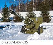 Купить «76-мм дивизионная пушка ЗИС-3 образца 1942 года, конструктора В.Г.Грабина», фото № 4407635, снято 12 февраля 2012 г. (c) Евгений Ткачёв / Фотобанк Лори