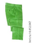 Купить «Зеленые вельветовые брюки», фото № 4412047, снято 24 августа 2012 г. (c) Elnur / Фотобанк Лори