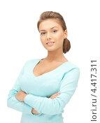 Купить «Молодая красивая женщина с очаровательной улыбкой», фото № 4417311, снято 28 августа 2011 г. (c) Syda Productions / Фотобанк Лори