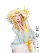 Купить «Женщина позирует в дамском костюме», фото № 4421187, снято 13 июня 2010 г. (c) Phovoir Images / Фотобанк Лори
