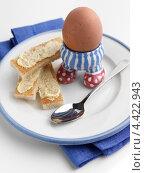 Купить «Тосты и вареное яйцо в подставке», фото № 4422943, снято 20 ноября 2018 г. (c) Food And Drink Photos / Фотобанк Лори