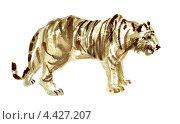 Тигр. Акварельный рисунок. Стоковая иллюстрация, иллюстратор Ковалева Наталья / Фотобанк Лори