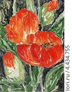 Купить «Живописная работа маслом. Маки», иллюстрация № 4434755 (c) Ирина Чекмарева / Фотобанк Лори