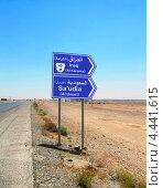 Указатель направлений на Иорданию, Ирак и Саудовскую Аравию (2010 год). Стоковое фото, фотограф Наталия Давидович / Фотобанк Лори