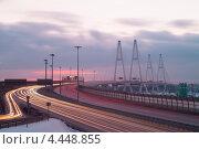 Купить «Санкт-Петербург. КАД развязка у Вантового моста», эксклюзивное фото № 4448855, снято 16 февраля 2013 г. (c) Литвяк Игорь / Фотобанк Лори