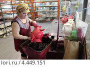 Купить «Гжельский фарфоровый завод», эксклюзивное фото № 4449151, снято 15 марта 2013 г. (c) Дмитрий Неумоин / Фотобанк Лори