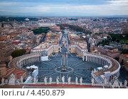Площадь Святого Петра в Ватикане (2012 год). Стоковое фото, фотограф Георгий Курятов / Фотобанк Лори