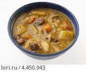 Купить «Тыквенный суп с мясом», фото № 4450943, снято 16 января 2019 г. (c) Food And Drink Photos / Фотобанк Лори