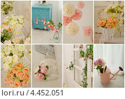 Весенний цветочный коллаж. Декор дома. Стоковое фото, фотограф Моисеева Ирина / Фотобанк Лори