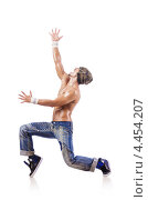 Купить «Современный танцор с обнаженным торсом», фото № 4454207, снято 5 октября 2012 г. (c) Elnur / Фотобанк Лори