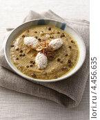 Купить «Суп из чечевицы с беконом», фото № 4456635, снято 23 мая 2019 г. (c) Food And Drink Photos / Фотобанк Лори