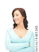 Купить «Привлекательная молодая женщина в повседневной одежде на белом фоне», фото № 4461043, снято 16 октября 2011 г. (c) Syda Productions / Фотобанк Лори