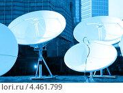 Купить «Параболические спутниковые антенны», фото № 4461799, снято 23 апреля 2012 г. (c) Syda Productions / Фотобанк Лори