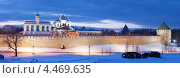 Великий Новгород. Ночной вид на кремль и Софийский Собор (2013 год). Стоковое фото, фотограф Литвяк Игорь / Фотобанк Лори