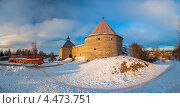 Панорамный вид на крепость Старая Ладога (2013 год). Редакционное фото, фотограф Литвяк Игорь / Фотобанк Лори
