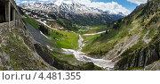 Альпийская панорама, Форарльберг, Австрия. Стоковое фото, фотограф Юрий Брыкайло / Фотобанк Лори