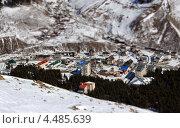 Населенный пункт в Приэльбрусье. Стоковое фото, фотограф Юлия Сагитова / Фотобанк Лори