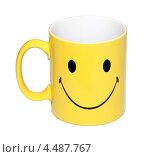 Чашка с счастливым лицом. Стоковое фото, фотограф Феликс Кучмакра / Фотобанк Лори